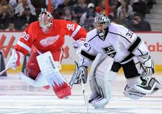 Jimmy Howard racing Jonathan Quick at the All-Stars skills competition  1-28-12
