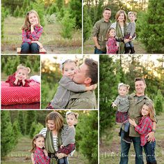 Here's another idea that's cute:  Family fall pictures taken at a tree farm, then use them for Christmas cards!