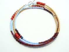 Long seed bead necklace seed bead bracelet beaded by JewelRiot, $27.00