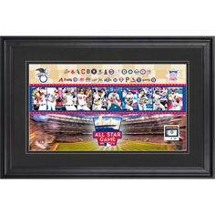 """Fanatics Authentic 2014 MLB All-Star Game 10"""" x 18"""" Stadium Collage with Piece of Game-Used Baseball-Limited Edition of 50 - $79.99"""