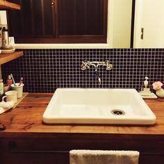 モザイクタイル/洗面所…などのインテリア実例 - 2014-12-29 07:49:30 | RoomClip(ルームクリップ)