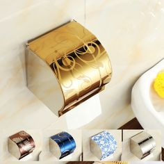 Free Shipping Modern House Bathroom Accessories Painting Surface Brass Toilet Rolls Paper Holder Tissue Box Wall Mounted Holder-in Paper Holders from Home & Garden on Aliexpress.com | Alibaba Group