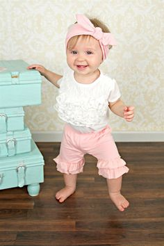 3eea040f426 Baby   Girls Chevron   Solid Shorties from Just Couture