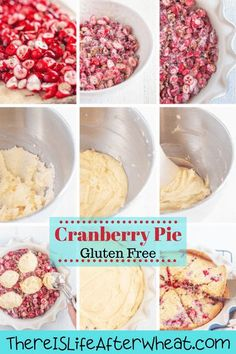 This gluten free cranberry pie is a delicious way to take the fuss out of pie-baking! It is baked in a pie pan and has a beautifully tender cake-like texture. beautiful, festive-looking pie with sugared cranberries and toasted pecans enveloped in a beautiful filling similar to cake. Best Gluten Free Desserts, Gluten Free Pie, Gluten Free Recipes For Breakfast, Gluten Free Treats, Cranberry Pie, Sugared Cranberries, Pie Pan, Toasted Pecans, Free Fun