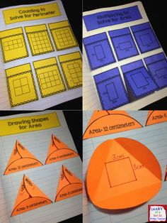 Area and Perimeter Interactive Notebook with 15 hands-on activities! Math Teacher, Math Classroom, Teaching Math, Teaching Ideas, Maths, Classroom Ideas, Fun Math Activities, Math Resources, Math Notebooks