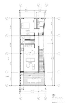 Image 22 of 24 from gallery of Shotgun Chameleon / ZDES. Second Floor Plan