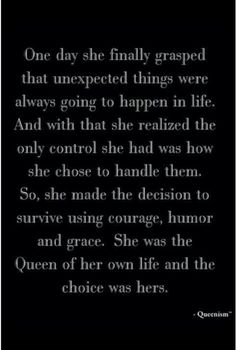 Motivational Monday! Queen quote, Aim to be gracious!