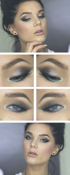 Love the soft teal liner with the gray!