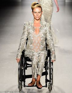 Models took to the catwalk in wheelchairs at FTL Moda's AW15 show in New York... Mercedes Fashion Show