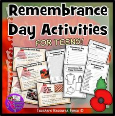 Remembrance Day: Presentation and Activities for teens!