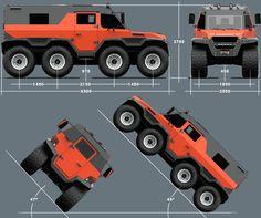 avtoros shaman 8x8 all-terrain vehicle designboom