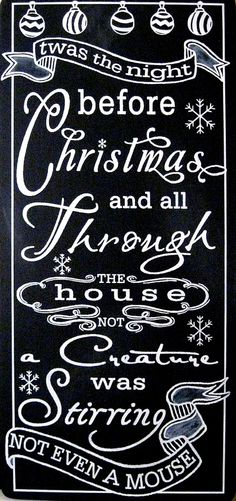 Twas the night before Christmas on Pinterest | Christmas Eve, Sleigh ...