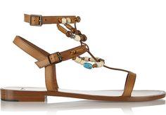 Shopping Mode Les 30 sandales de l'été : Sandales en cuir et perles Saint Laurent par Hedi Slimane http://www.vogue.fr/mode/shopping/diaporama/les-30-sandales-mode-de-lete-2015/21052/carrousel