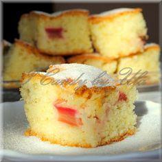 ICandy: Błyskawiczny placek z rabarbarem Christmas Appetizers, Vanilla Cake, Cake Recipes, French Toast, Cheesecake, Bread, Cookies, Baking, Breakfast