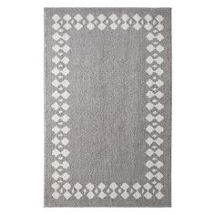 Mohawk Home Laguna Stacked Border Rug, Grey
