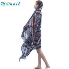Womail Good Deal New Hot Spring Summer Ladies Ethnic Style Scarf Beach Head Sarong Wrap Tassel Shawl Gift 1PC