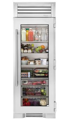 glass front refrigerator with freezer drawer kitchens pinterest k che. Black Bedroom Furniture Sets. Home Design Ideas