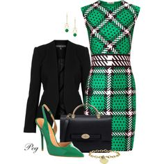 St. Patricks Day at the Office, created by derniers on Polyvore