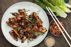 Use easy-to-find chicken thighs to make this twist on Korean bulgogi. Cooking on charcoal grill will give it smoky flavor, but you can also use the stove. Easy Korean Recipes, Asian Recipes, Fall Recipes, Summer Recipes, Vietnamese Recipes, Spicy Appetizers, Appetizer Recipes, Dinner Recipes, Grilling Recipes