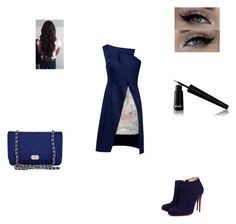 """""""Unbenannt #127"""" by melli91 ❤ liked on Polyvore featuring Lemiché, Chanel, Christian Louboutin and Noir Cosmetics"""