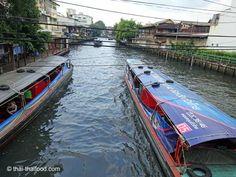 Kanäle in Bangkok mit Busbooten Bangkok, Thai Recipes, Adventure, Thai Food Recipes