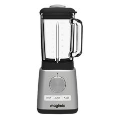 Magimix - 11619 Le Blender - Silver: With 4 automatic pre-set functions for soup, smoothies, frozen desserts and… Blender Magimix, Blender Soup, Best Juicer, Smoothie Makers, Juicing Benefits, Glass Jug, Blenders, Car Cleaning, Frozen Desserts