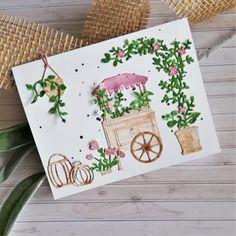 Nostalgie-Blumenwagen Herzlich willkommen an meinem romantischen Vintage-Blumenwagen! Eigentlich ist es ein Eiswagen, den ich hier auf meiner Karte umfunktioniert habe, um noch mehr Blumen und Ranken unterzubringen. ...weiter gehts auf dem Blog ;o) #charlieundpaulchen #scrapbooking #happy #instagood #cardmaking #diycards #cardmakingideas #paperlove #cardsofinstagram #cardmaking #handmade #paperaddict @Kartenwald Blog, Vintage, Home Decor, Ice Cream Van, Repurposed, Welcome, Nostalgia, Flowers, Cards