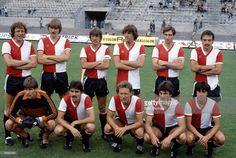 Bijzondere eltalfoto van Feyenoord, genomen in Juni 1981 tijdens een Zomertoernooi bij AC Milan, met Arie Haan en Ruud Krol!
