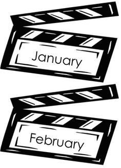 These are hollywood theme clapboards with the months of the year on them. They can be used for calendars or birthday charts or anywhere that you need to display the months of the year. Mine will have a picture with the birthday kids for each month hanging underneath. :-)