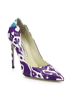 Love these shoes by BRIAN ATWOOD Mercury Snakeskin Pumps - $825