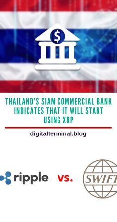 Siam Commercial Bank (SBC) which is the largest commercial bank in Thailand has shown that it is likely to begin using Ripple (XRP), but users will have to wait longer for more direction on the same… Commercial Bank, Crypto Mining, Cryptocurrency Trading, Blockchain Technology, Crypto Currencies, Bitcoin Mining, Investing, Thailand, Money