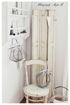 my house will one day be all white and shabby chic.