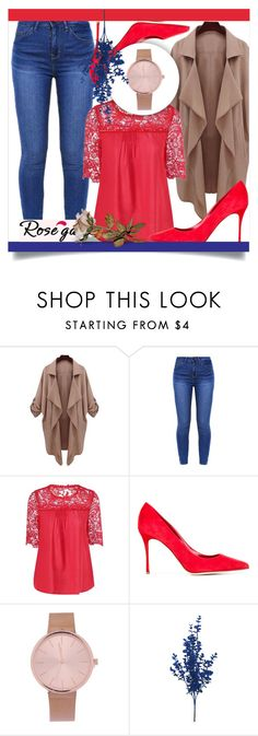 """ROSEGAL 60"" by mini-kitty ❤ liked on Polyvore featuring Sergio Rossi, outfit, women and rosegal"