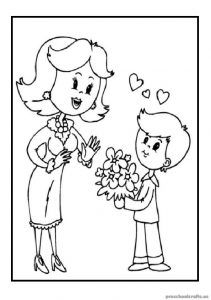 Special mothers day online coloring pages for kids. Enjoy amazing drawings of family specially for mom that children can color online or print. Mothers Day Coloring Pages, Jesus Coloring Pages, Preschool Coloring Pages, Online Coloring Pages, Cool Coloring Pages, Free Printable Coloring Pages, Coloring Books, Mothers Day Crafts, Happy Mothers Day