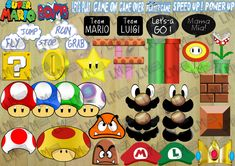Super Mario Brothers Photo Booth Props  Decor  by LMPhotoProps, $9.50