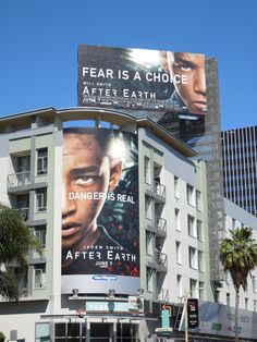 After Earth movie billboards...