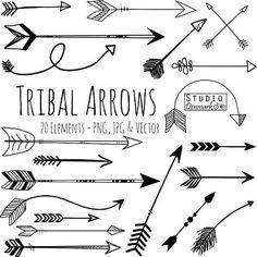 tribal arrow clipart