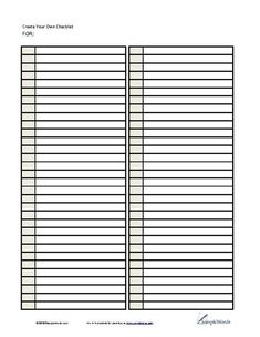 Numbered Lined Paper Template - Printable PDF Form | Pinterest ...