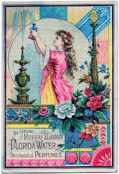 *The Graphics Fairy LLC*: Antique Advertising Image - Pretty Lady with Fountain