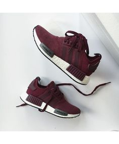 Adidas NMD Runner Suede Burgundy Trainers Sale UK  4d072e3c7