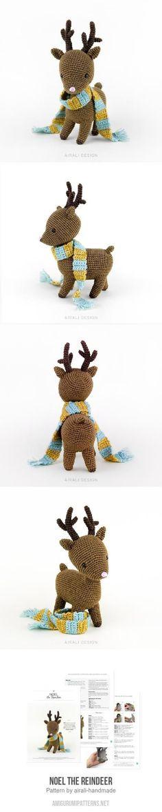 Noel the Reindeer amigurumi pattern. Super cute crochet Christmas reindeer pattern. 5.50