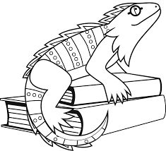 i is for iguana coloring pages preschool pinterest