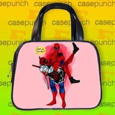 An2-spiderman Hearts Deadpool In Valentine Handbag Purse Woman Bag Classic