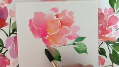 Wall Painting Flowers, Easy Flower Painting, Flower Art, Drawing Flowers, Simple Watercolor Flowers, Watercolor Flowers Tutorial, Floral Watercolor, Watercolour Tutorials, Simple Flowers