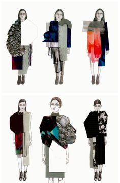Fashion Illustration Collage, Illustration Mode, Fashion Collage, Fashion Art, Fashion Models, Fashion Outfits, Illustrations, Fashion Design Sketchbook, Fashion Design Portfolio