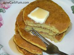 Oat Fiber Buttermilk Pancakes - Gluten Free | Low Carb Yum