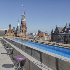 Take a dip in Amsterdam's only roof top pool at the @whotelamsterdam. Read our interview with GM Igor Buercher in today's posting.  #amsterdam #netherlands #5star #whotel #love #travel #traveling #holiday #vacation #travelling #luxuryhotel #luxuryhotels #luxestyletravel #luxurytraveloursuits