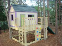Ana White | Kid's Playhouse and Slide - DIY Projects