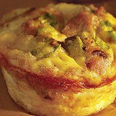 Egg & mushroom tartlets