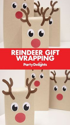 Put a unique touch on your Christmas presents with this easy Christmas gift wrapping idea - reindeer gift wrap! Simply wrap your presents in brown paper and stick on our free printables! A fun gift wrap idea that kids will love on Christmas morning! Find more Christmas ideas over on the Party Delights blog.